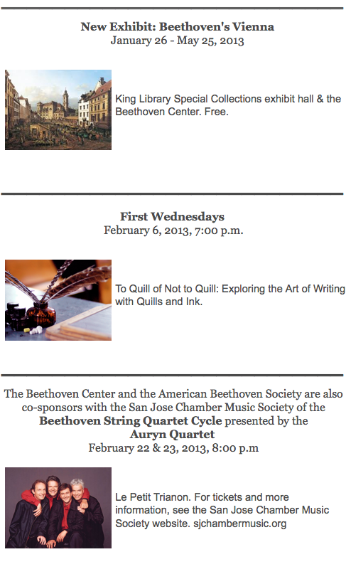 American Beethoven Society Events