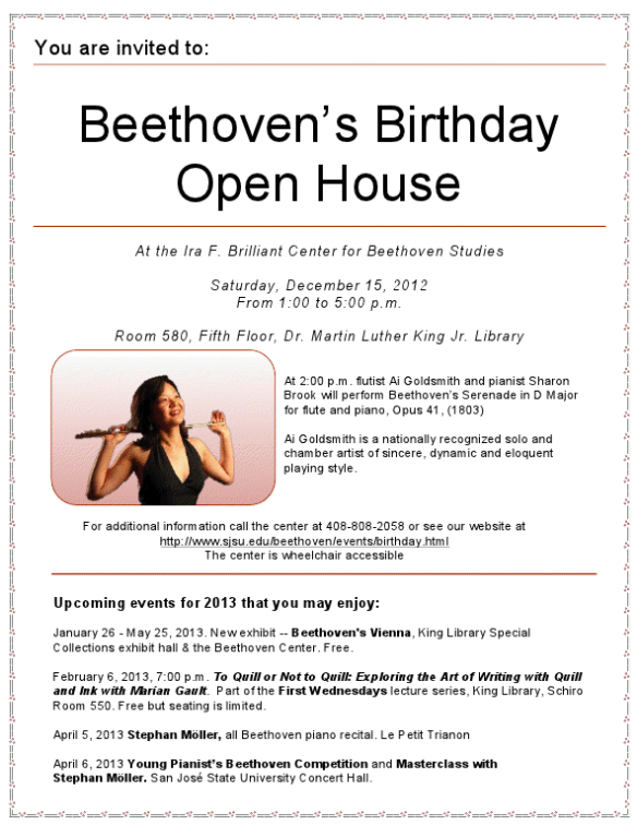 2012 Beethoven Birthday Bash