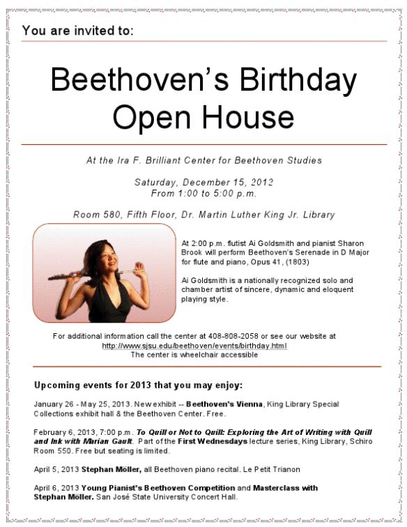 2012 Beethoven Birthday Bash